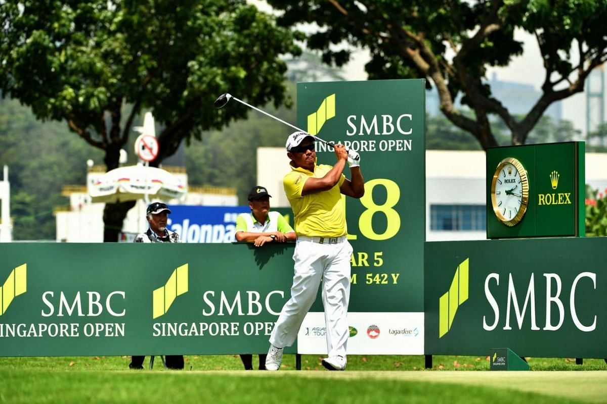 Tirawat Kaewsiribandit of Thailand fired a blemish-free seven-under 64 to take the halfway lead on the second day of the SMBC Singapore Open.