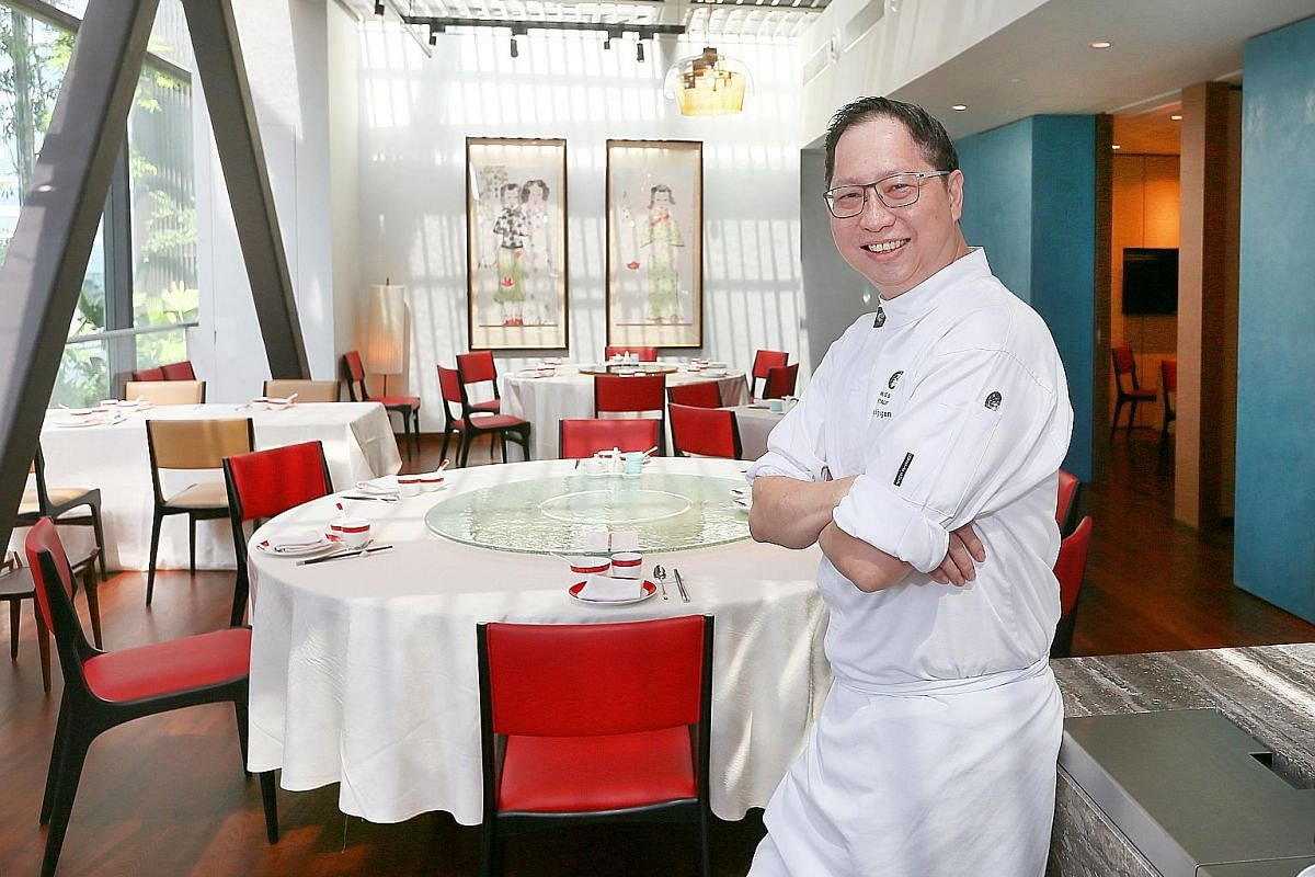 Chef-owner Yong Bing Ngen (above) serves familiar as well as new dishes at Majestic Restaurant. Miss Kefir, co-owned by Ms Ive Upatkoon (left), sells smoothies and parfaits.