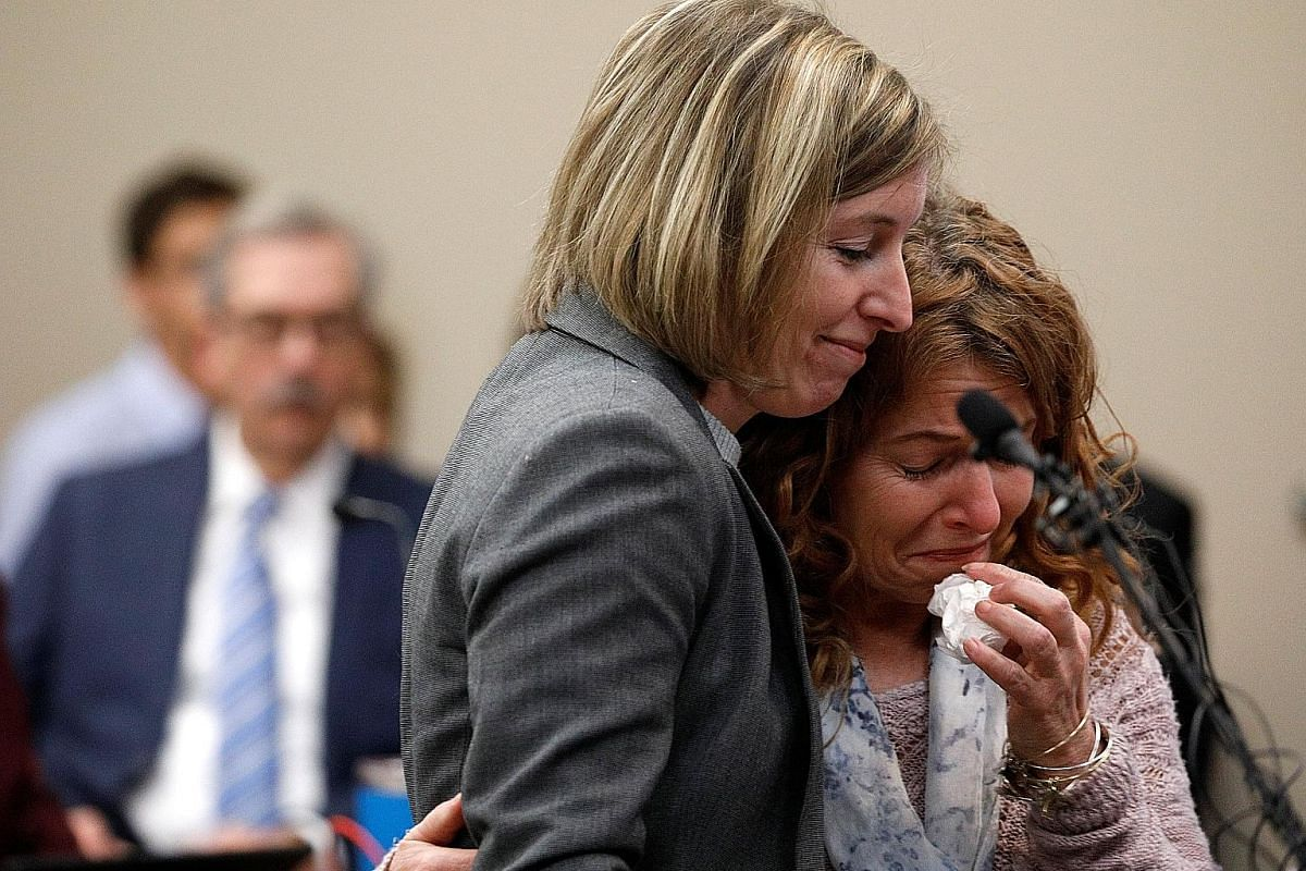 Victims Catherine Gordon (left) and Megan Ginter in court to give their victim impact statements. Larry Nassar was made to face his victims during his sentencing hearing in Lansing, Michigan, over the past week. He is expected to spend the rest of hi