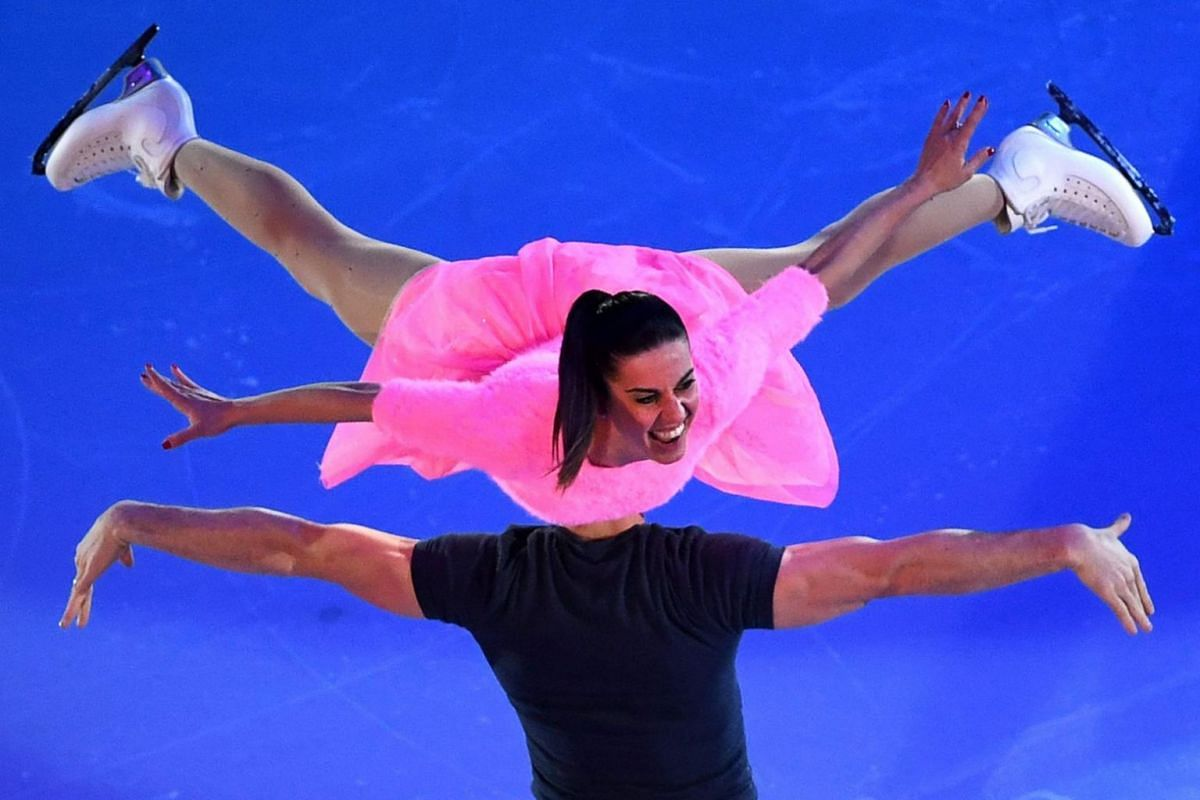 Italy's Valentina Marchei and Ondrej Hotarek perform during the Gala Exhibition at the ISU European Figure Skating Championships in Moscow, Russia, on Jan 21, 2018.