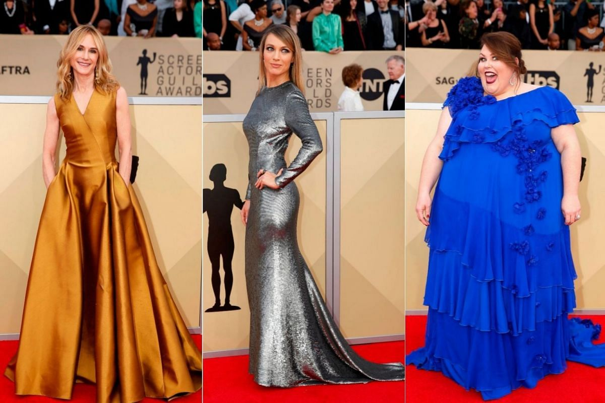 Actresses Holly Hunter, Natalie Zea, and Chrissy Metz.
