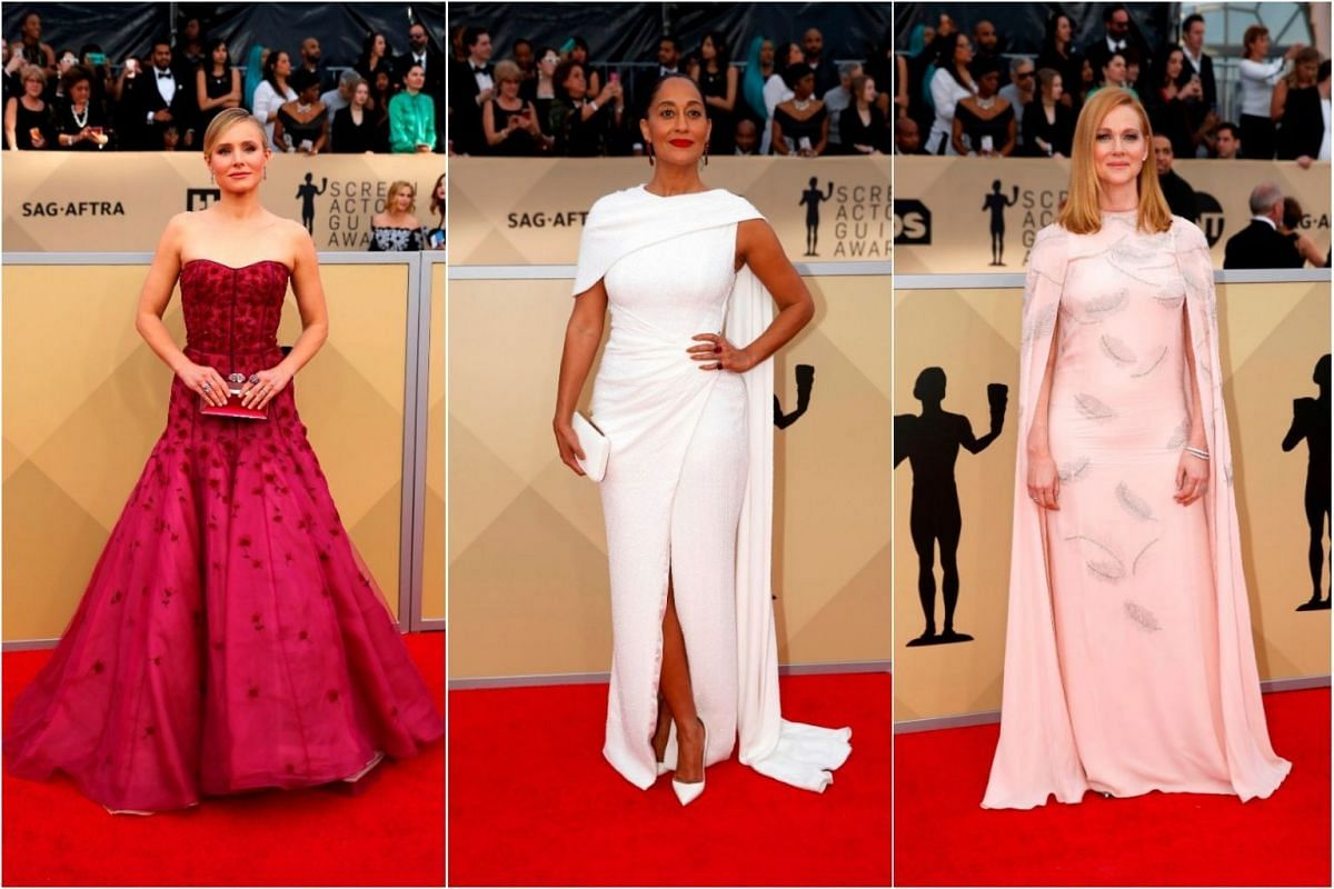 Actresses Kristen Bell, Tracee Ellis Ross and Laura Linney.