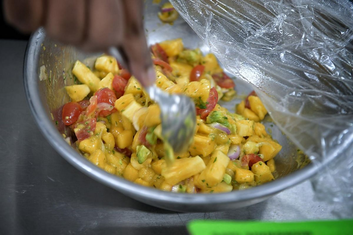 Mr Paul Simon's mango salsa salad.