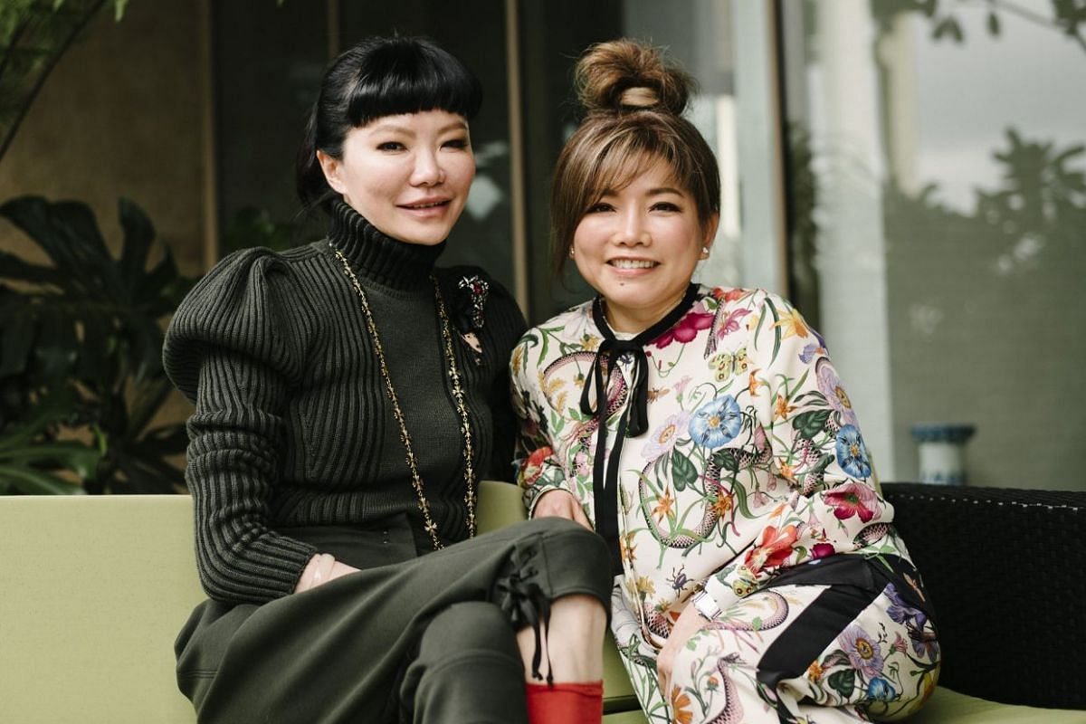 Dr Georgia Lee (left), co-founder of A DrBrand line of products, and Ms Patsy Ong-Hahl, also a co-founder and the brand's chief executive.