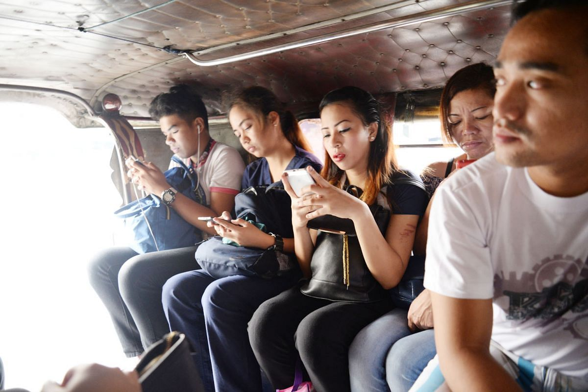 Since the first jeepney rolled out of Mr Leonardo Sarao's garage in 1955, the jeepney has changed little. Passengers still sit knee-to-knee, face-to-face, on long vinyl benches. There are no seat belts and air-conditioning. Colourful jeepneys on the