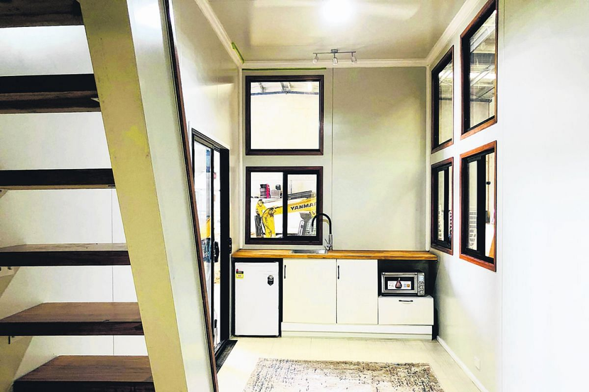 Big Tiny's eco-friendly, prefabricated houses can be yoked to a four-wheel-drive and come with solar panels, a rainwater collection system and a composting toilet.