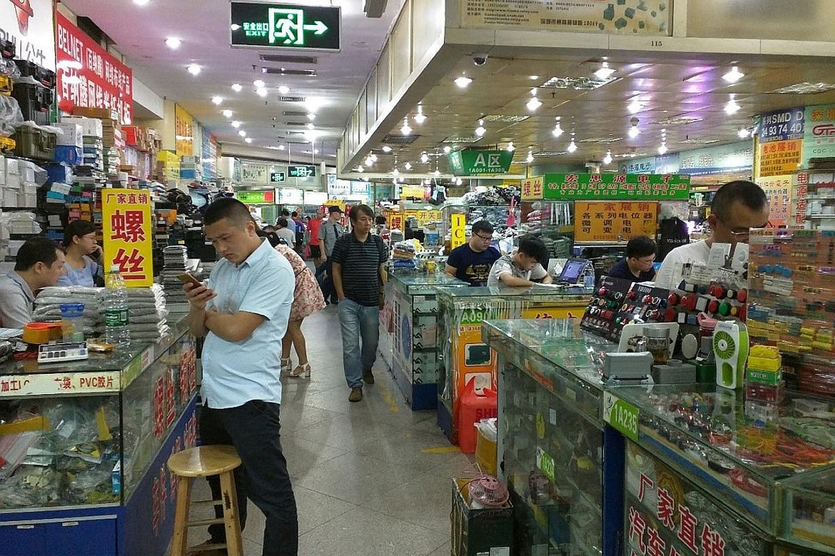The best place to shop is Huaqiangbei, which is like the Orchard Road of Shenzhen, but for electronics instead of fashion.