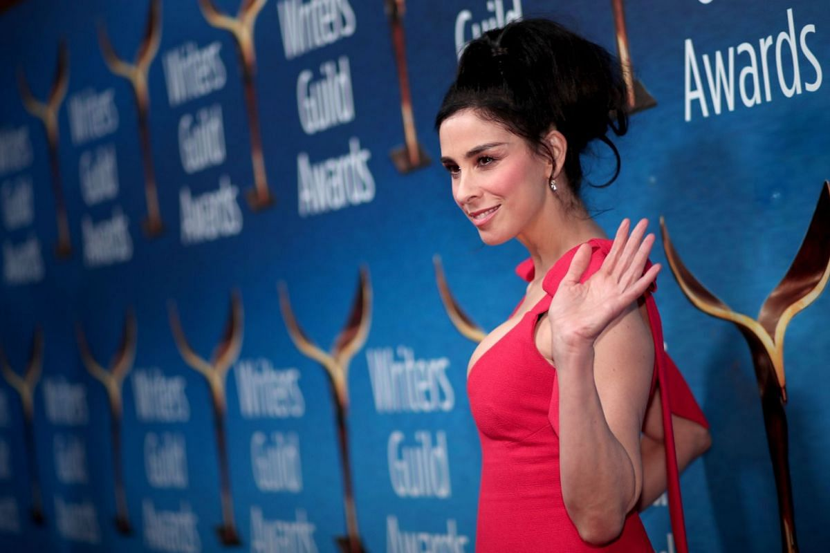 Sarah Silverman attends the 2018 Writers Guild Awards L.A. Ceremony at The Beverly Hilton Hotel.