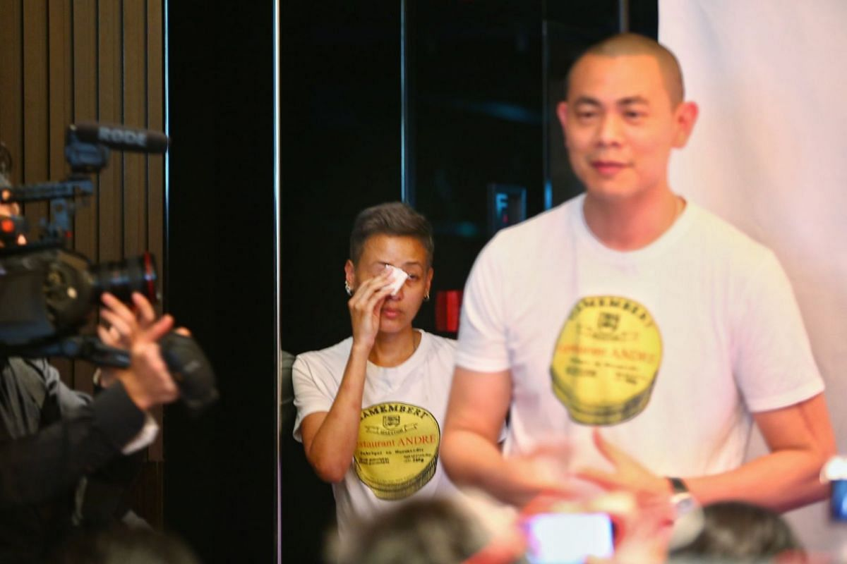 Chef-owner Andre Chiang, 41, and his Thai wife Sudarampai Chiang, 47, will be moving to Taipei where he has another restaurant Raw, which specialises in Western cuisine using local produce.