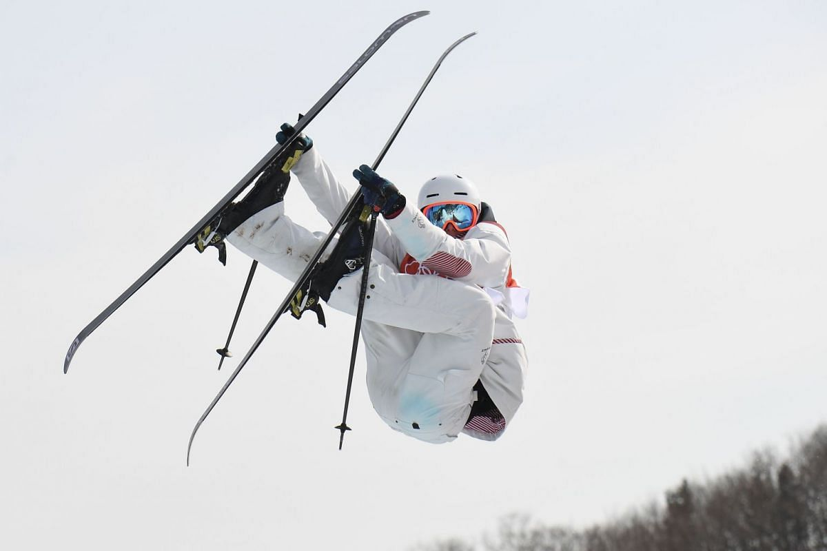 France's Antoine Adelisse competes in the men's ski slopestyle event during the Pyeongchang 2018 Winter Olympic Games at the Phoenix Park in Pyeongchang on February 18, 2018. PHOTO: AFP
