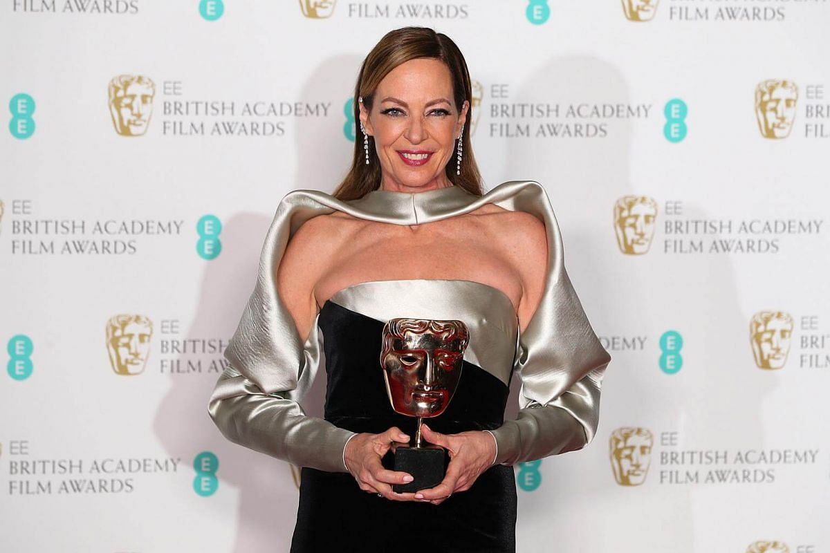 Allison Janney holds her award for Supporting Actress for I, Tonya at the British Academy of Film and Television Awards at the Royal Albert Hall in London, on Feb 18, 2018.