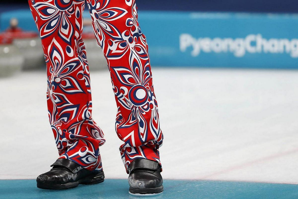 A close up of the the trousers worn by Team Norway.