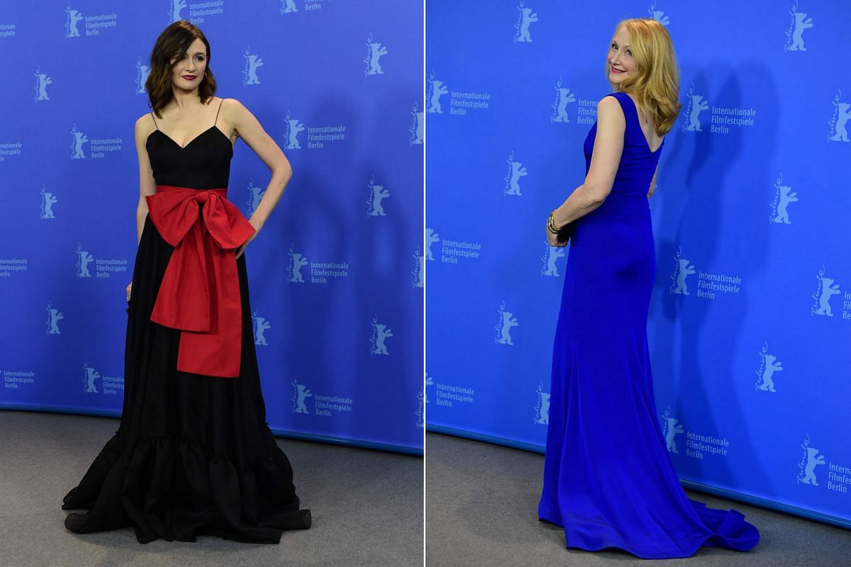 Actresses Emily Mortimer (left) and Patricia Clarkson arrive for the premiere of The Bookshop.