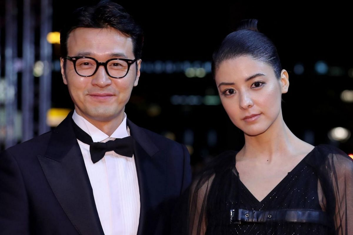 South Korean actor Lee Sung Jae and Japanese actress Mina Fujii attend the red carpet for Human, Space, Time and Human.