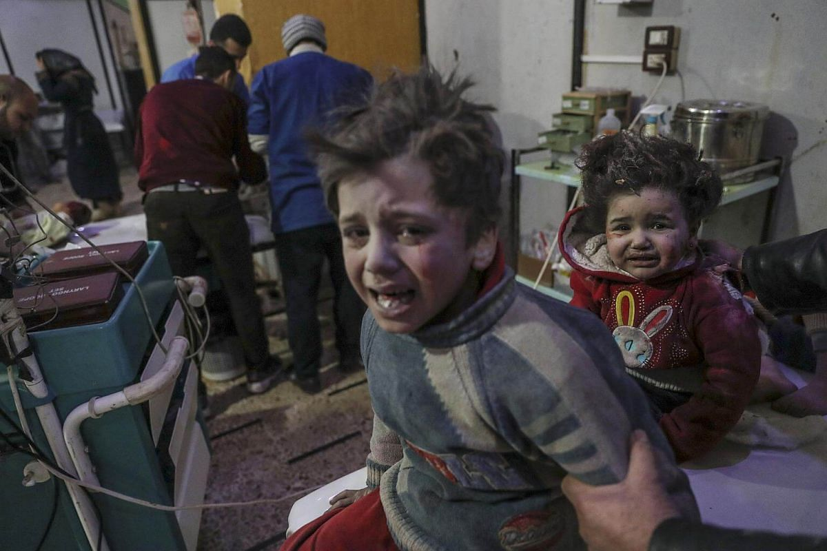Factions in Ghouta fired mortars at districts of Damascus, killing a child and wounding eight others. Troops and allied forces struck militant targets there in response.