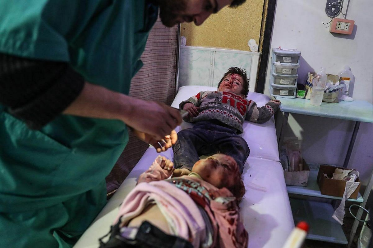 Air strikes, rocket fire and shelling on the besieged suburbs of Damascus also wounded another 325 people.