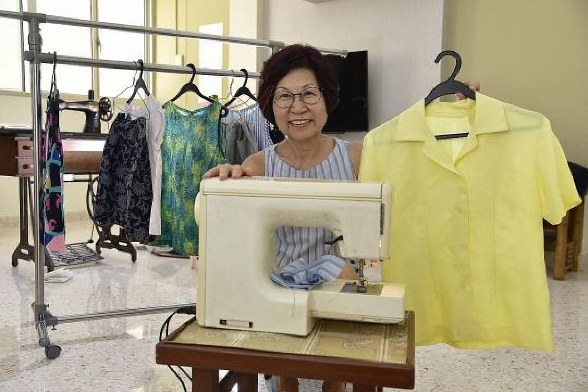Ms Florence Chek received a subsidy and used her SkillsFuture credits to pay for a course on pattern-making and sewing at Lasalle College of the Arts.