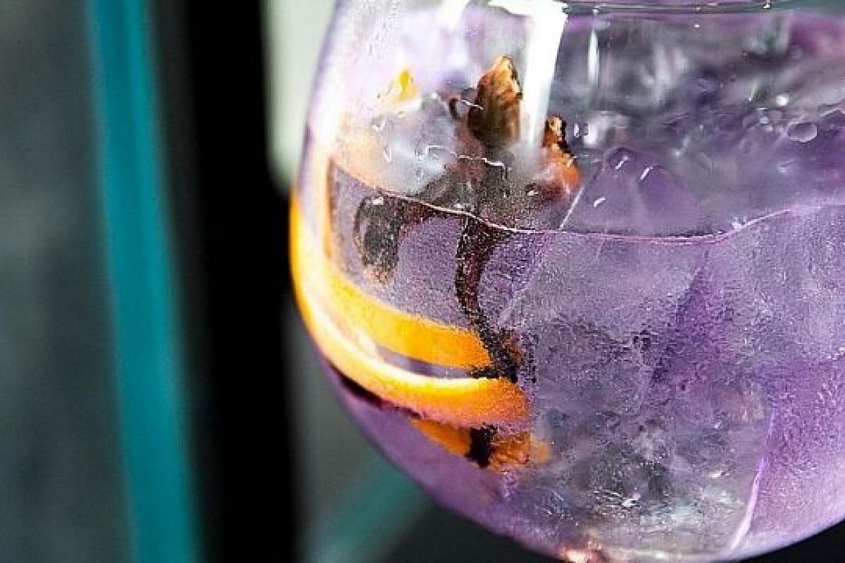 INK GIN & 1724 TONIC WATER COCKTAIL