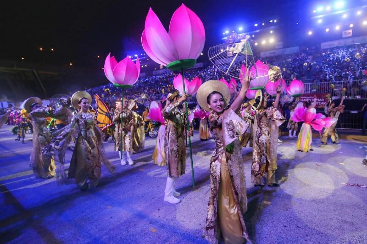 About 6,500 performers took part in this year's Chingay parade, the 46th since 1973.