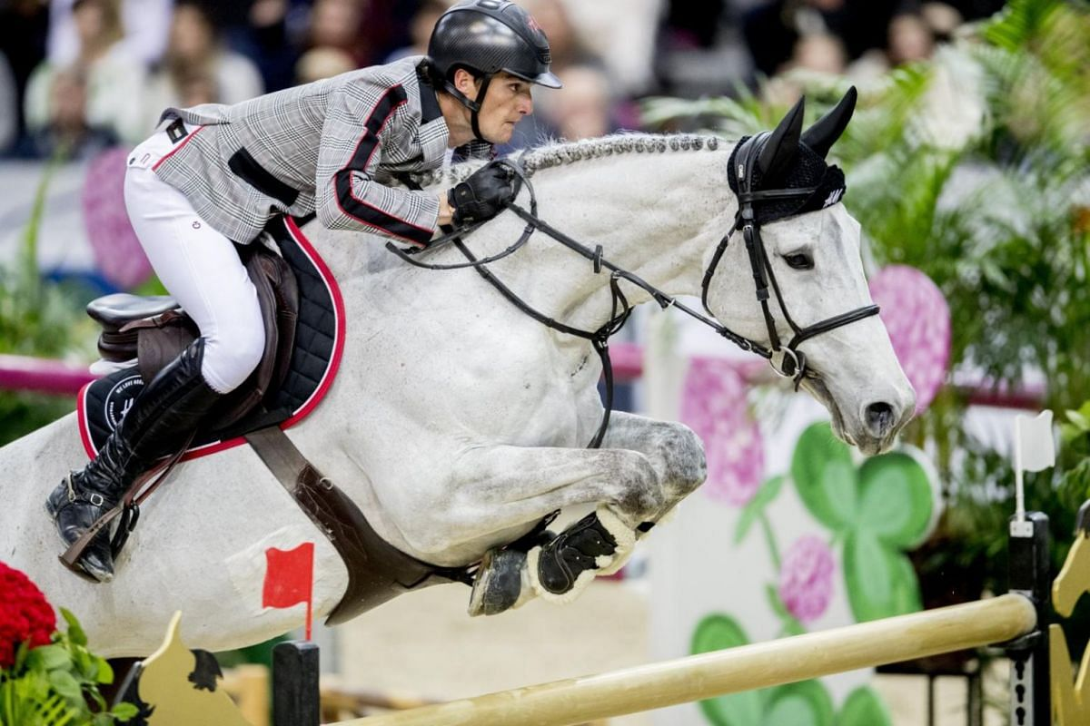 Belgium's Oliver Philippaerts riding horse H&M Legend of Love at the FEI World Cup show jumping event during the Gothenburg Horse Show, in Gotheburg, Sweden, on Feb 25, 2018.