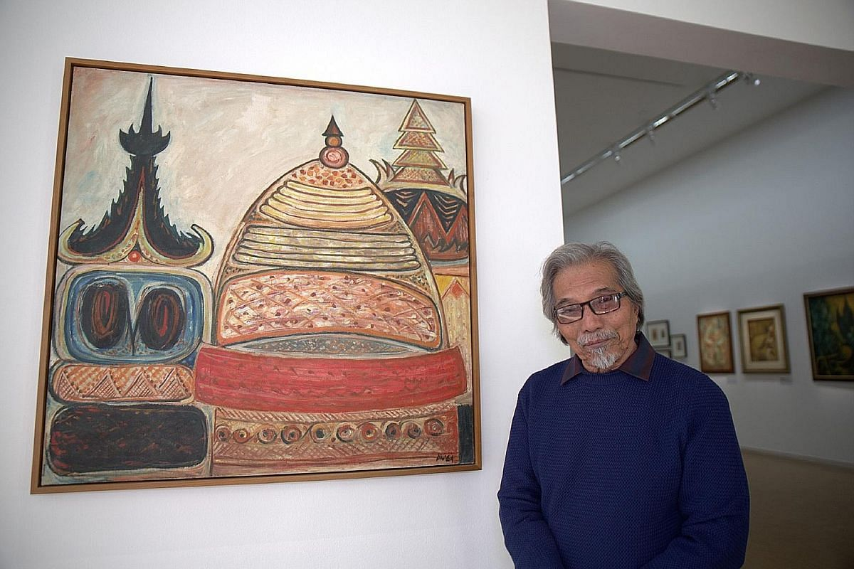 The exhibition, Latiff Mohidin: Pago Pago (1960-1969, top), highlights the works of Malaysian modernist artist Latiff Mohidin (above).