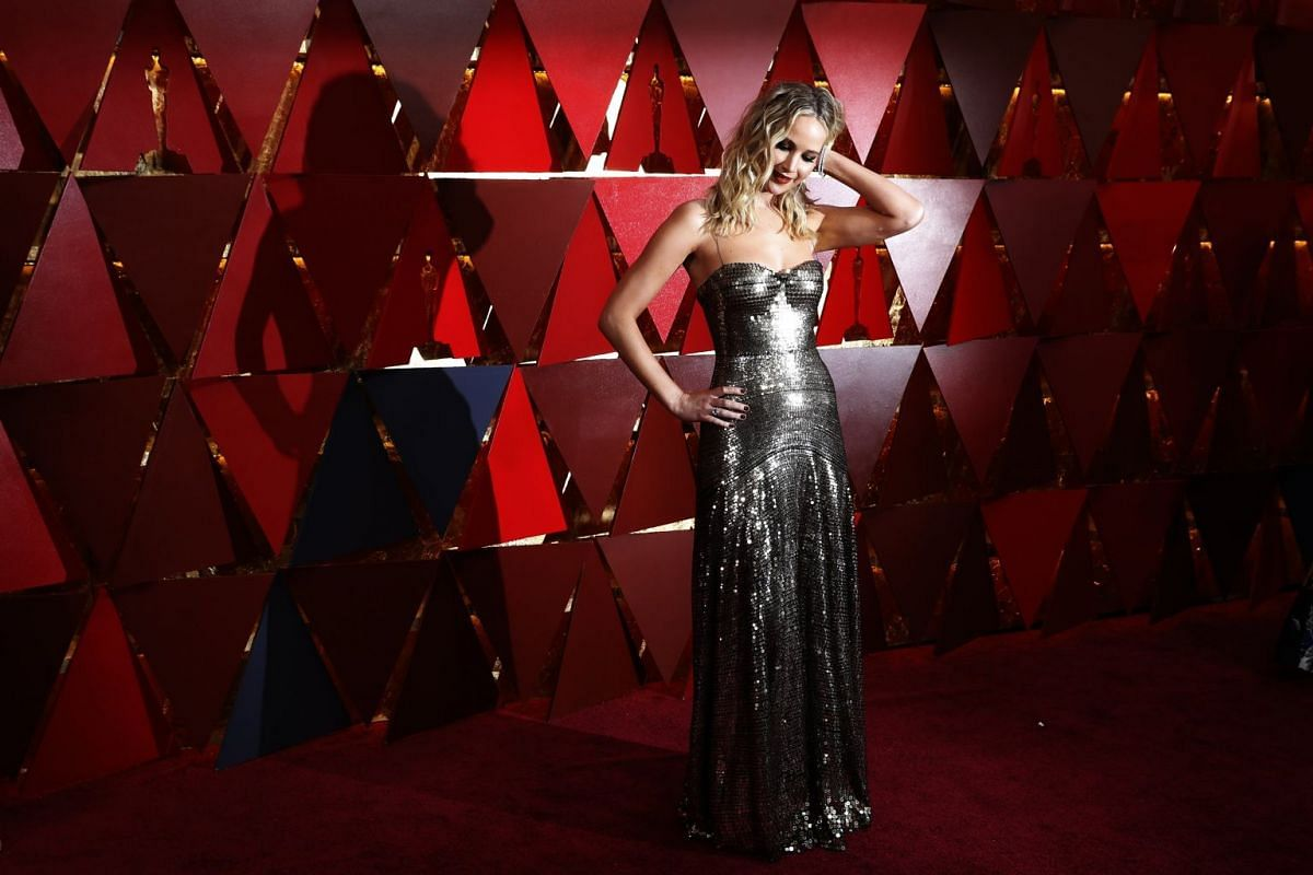 Actress Jennifer Lawrence arrives at the 90th Academy Awards ceremony in Hollywood, California, U.S., on March 4, 2018. PHOTO: REUTERS