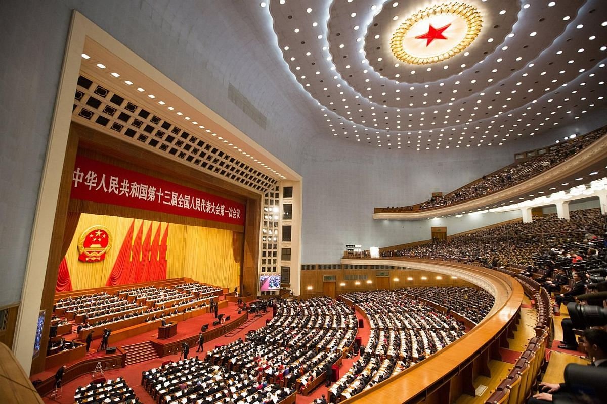 The opening of the first Plenary Session of the 13th National People's Congress (NPC) at the Great Hall of the People (GHOP) in Beijing on March 5, 2018.