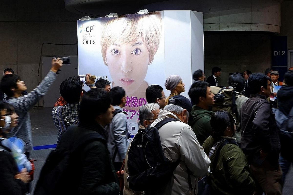 The CP+ 2018 Photo and Imaging Show (above) is held annually at Yokohama, Japan, where camera makers show off their latest products.
