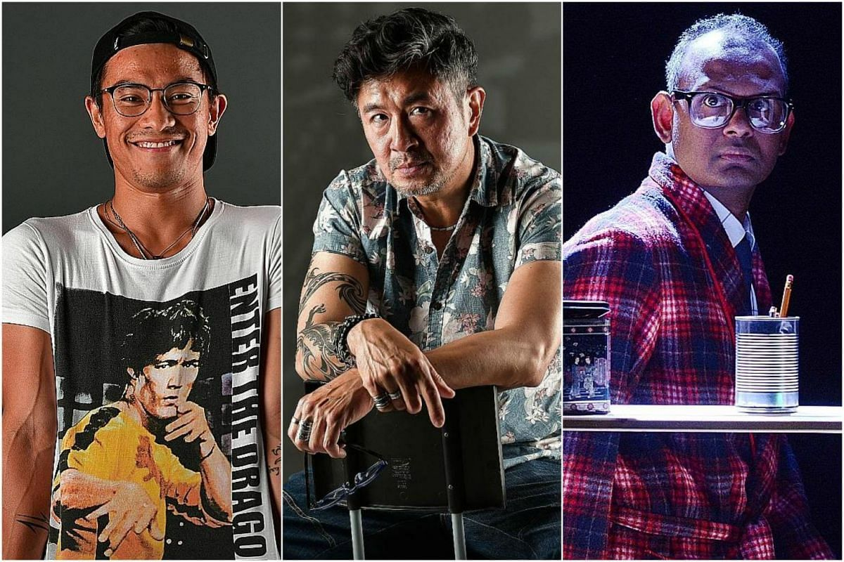 (From left) Thomas Pang, Adrian Pang and Ramesh Meyyappan are this year's Best Actor nominees at The Straits Times' Life Theatre Awards.