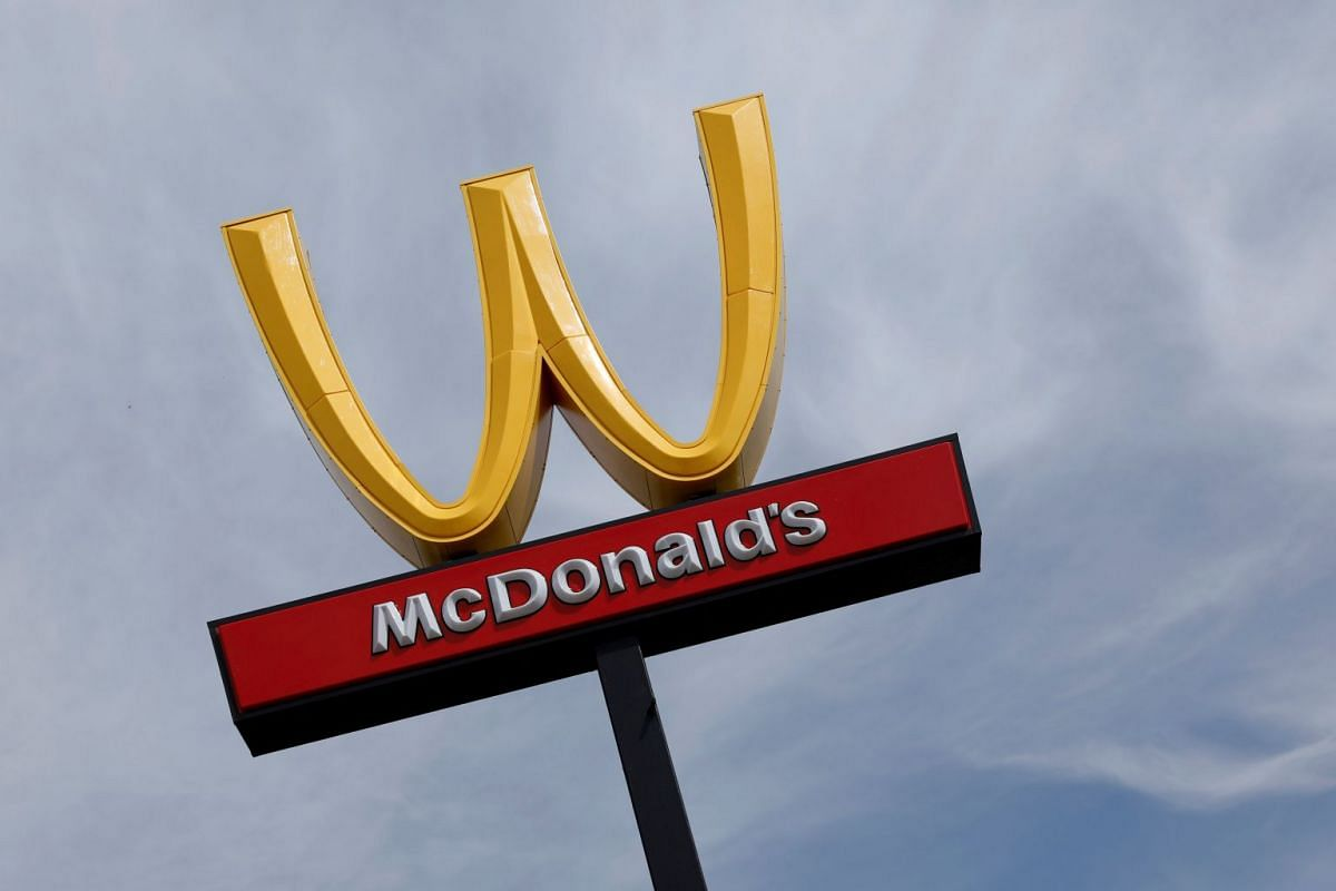 McDonald's iconic 'M' logo is turned upside down in honour of International Women's Day in Lynwood, California, U.S., March 8, 2018. PHOTO: REUTERS