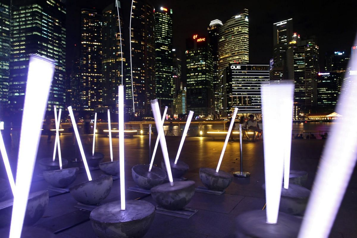 Light Breeze, created by a six-member team from the Lasalle College of the Arts, is a tribute to the flora and fauna in Singapore's ever-changing landscape.