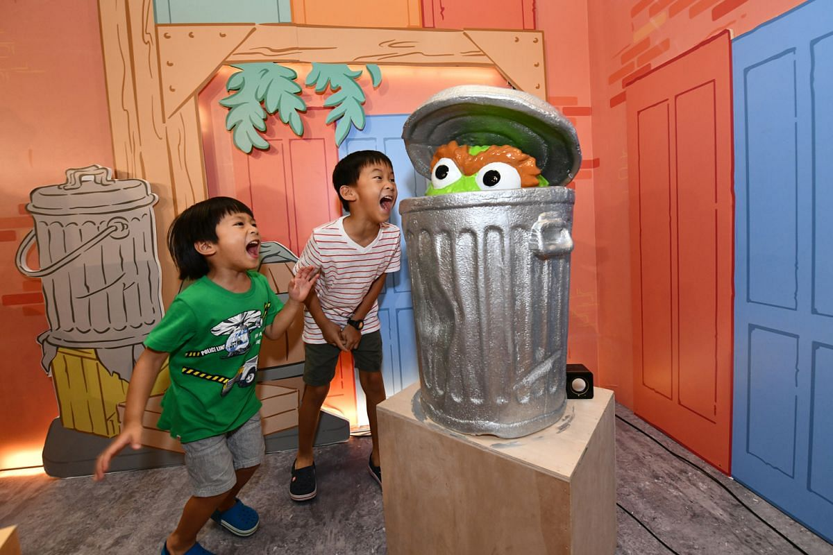 Sesame Street fans can get up close to the characters at Changi Airport.