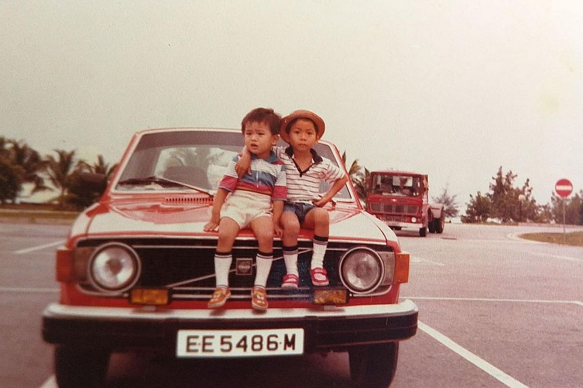 Cousins Nelson (left) and Terence Loh when they were aged two and four respectively.