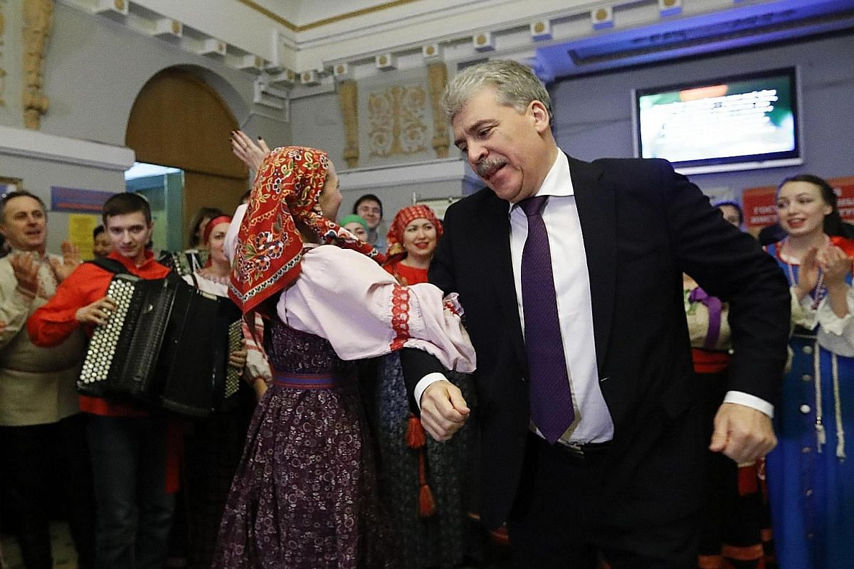 PAVEL GRUDININ , 57 (Communist Party): His anti-corruption stance and pledge to fix bad roads have earned him a strong following.