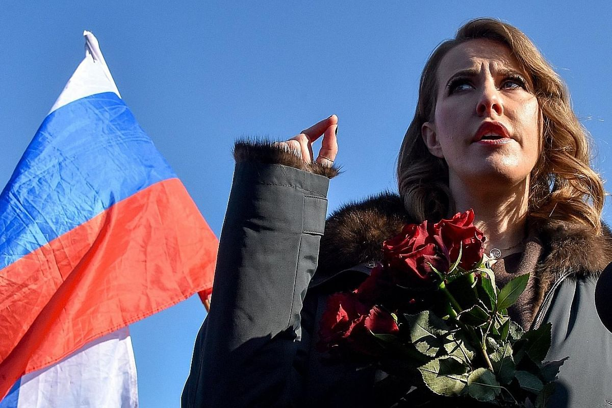 KSENIA SOBCHAK, 36 (Civil Initiative): She is the first woman to contest the presidency in 14 years and the youngest candidate since 2004.