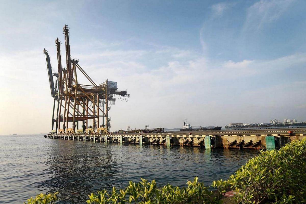 Work for the quay cranes has come to a standstill but the port was at the heart of major shipping routes between the East and West, making it an ideal transshipment hub.