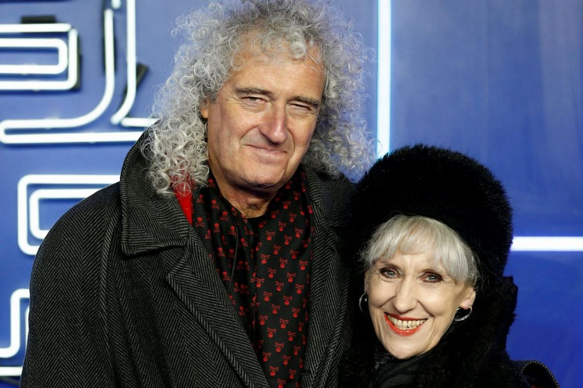 Musician Brian May and actress Anita Dobson at the premiere of the film Ready Player One in London.