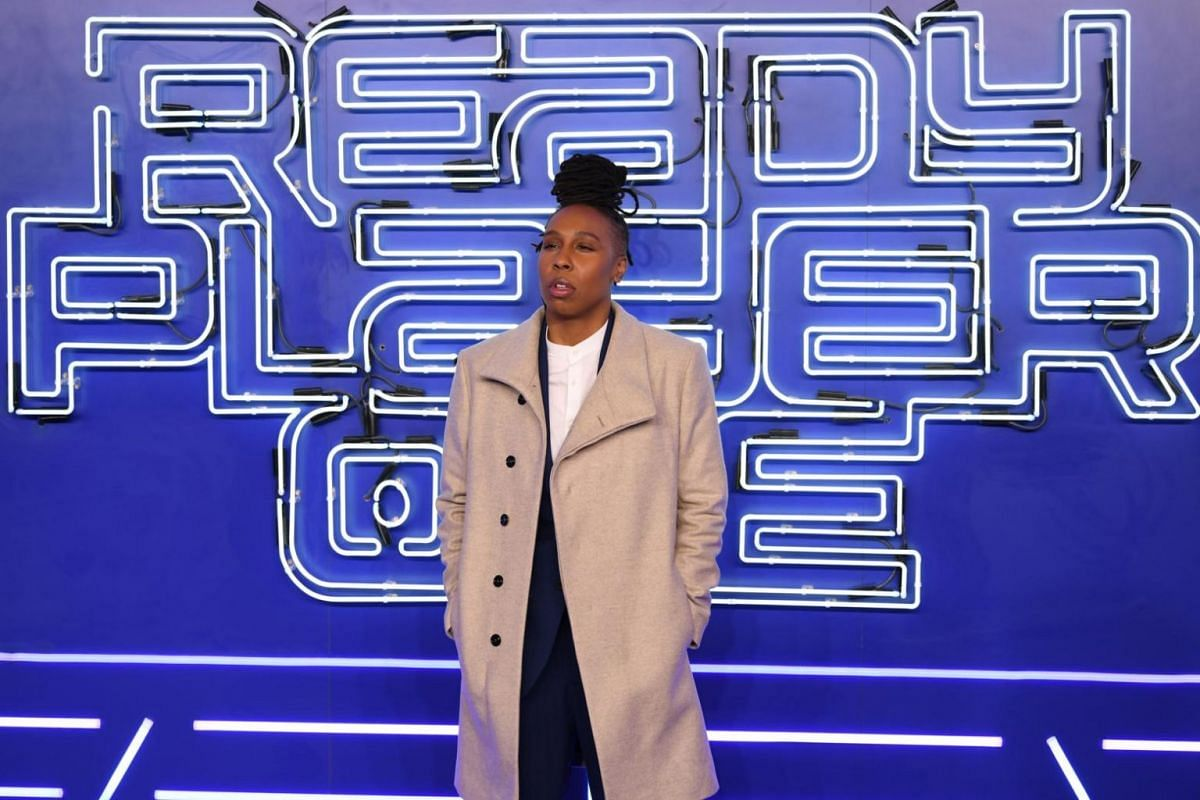 US actress and cast member Lena Waithe at the premiere of the movie Ready Player One.