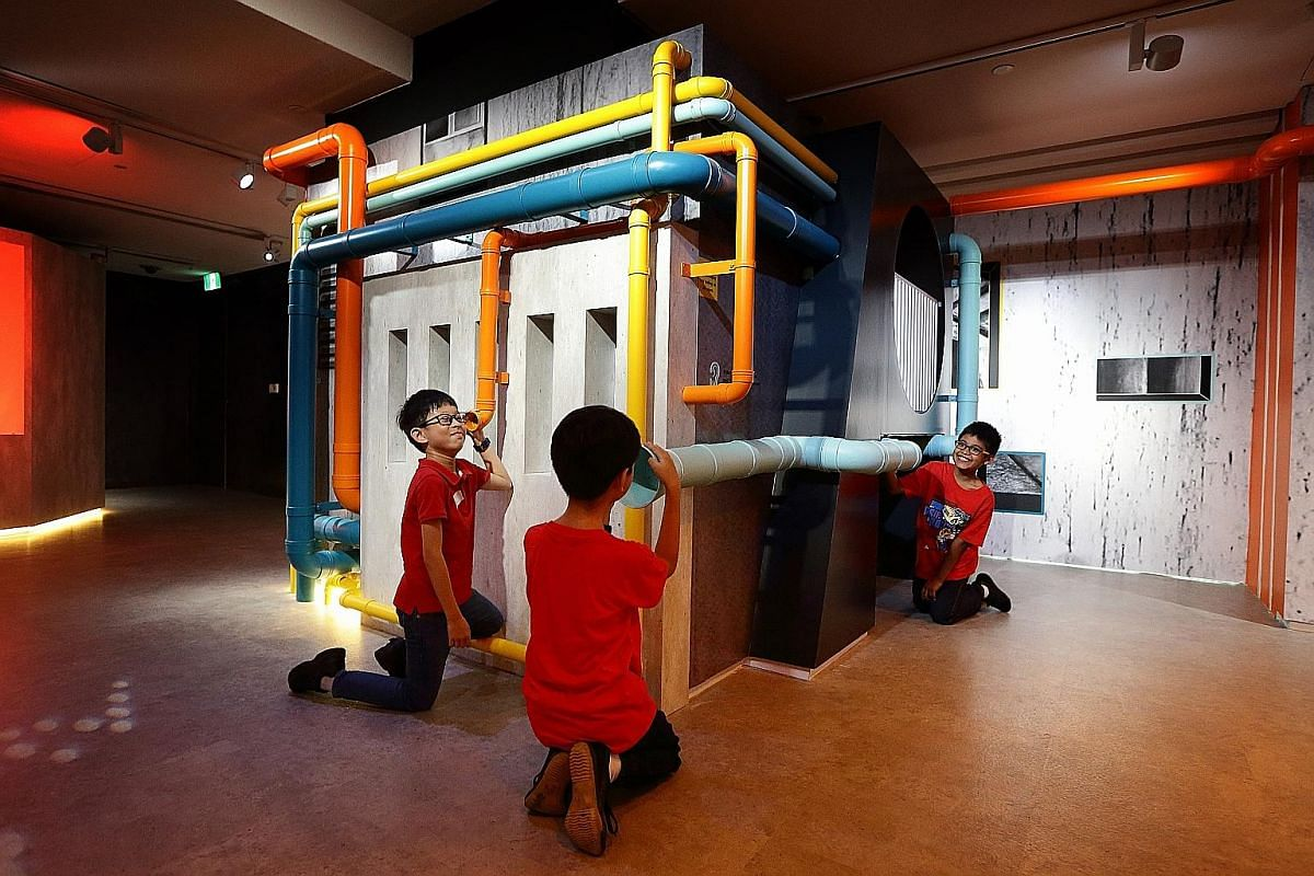 Interactive theatre for kids at the Esplanade (left) and stimulating play spaces at Playeum (right) at Gillman Barracks. Keppel Centre of Art Education at the National Gallery Singapore houses two immersive spaces and two learning spaces, with the ex