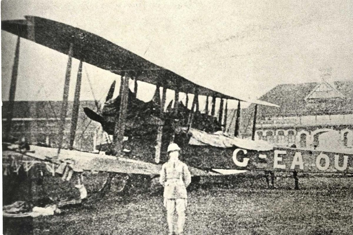 The first plane to touch down in Singapore occurred in 1919 at the Farrer Park racecourse.