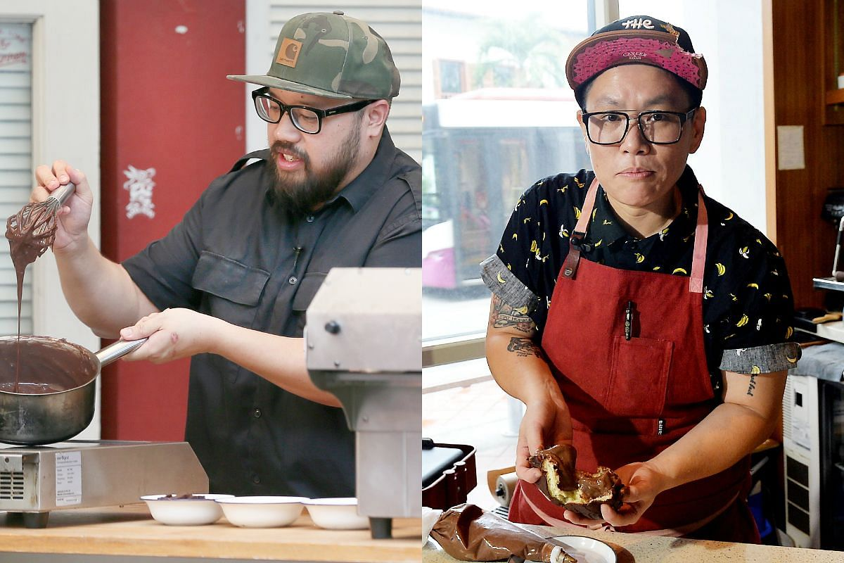 The Straits Times speaks to two chefs, now-defunct Crackerjack's chef Alysia Chan (right) and owner of Artichoke Bjorn Shen about how to create your own versions of the chocolate desserts.