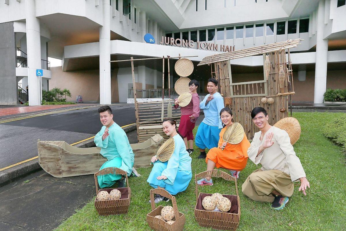 Theatrical work Jurong Songbook stars (from left) Andrew Marko, Elizabeth Loh, Suhaili Safari, Rizman Putra, Sharmaine Goh and Lian Sutton.