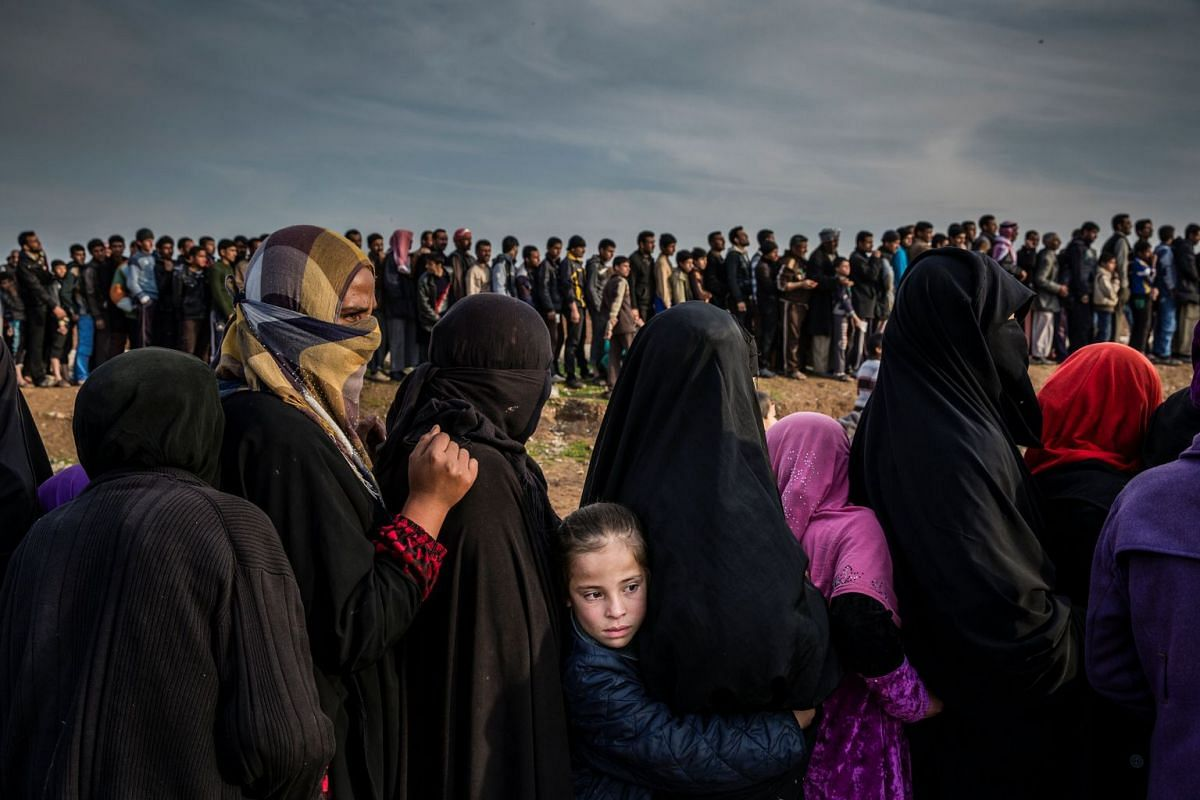 Nominated for Photo of the Year in World Press Photo 2018, the photo shows civilians, who have remained in west Mosul during the battle to retake the city, lining up for an aid distribution in the Mamun neighbourhood.