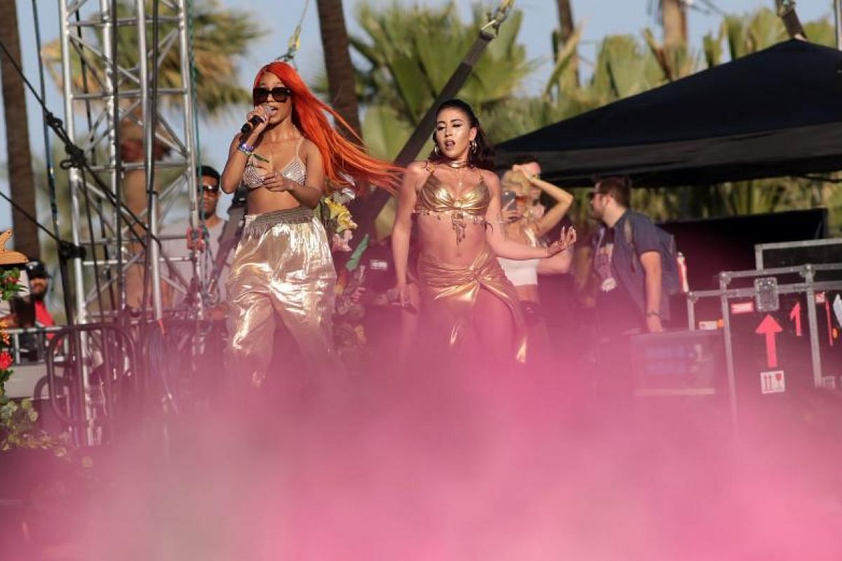 Kali Uchis performs on opening day of Coachella.