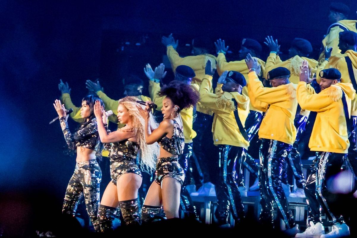 Beyonce performs Saturday during the Coachella Music and Arts Festival in Indio, California, April 14, 2018. PHOTO: AFP