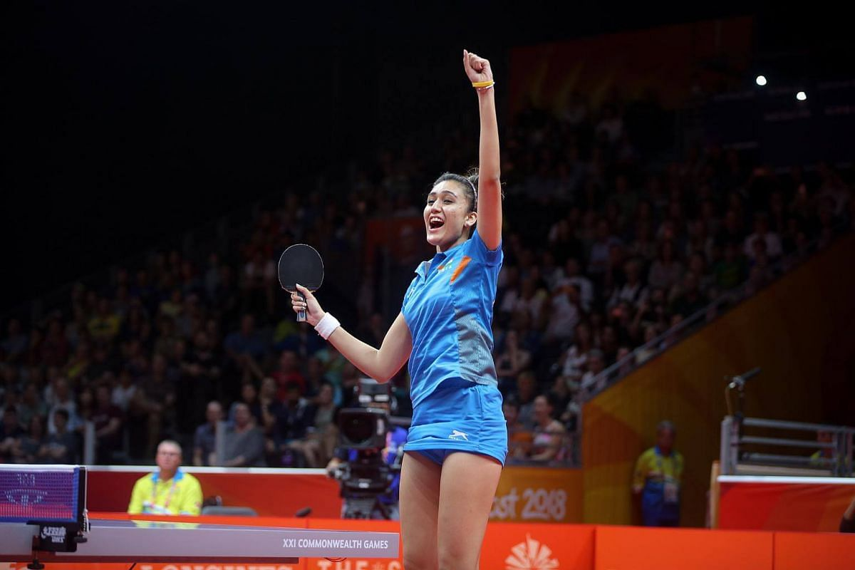 India's Manika Batra after winning the table tennis women's singles final at the Gold Coast Commonwealth Games 2018 in Australia, on April 14, 2018.