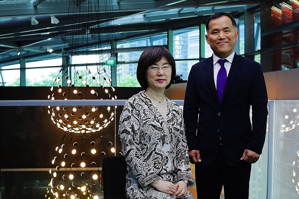 Madam Lee Eunim is Hera's managing director, while Mr Robin Na is the managing director of Amorepacific's operations in South-east Asia.