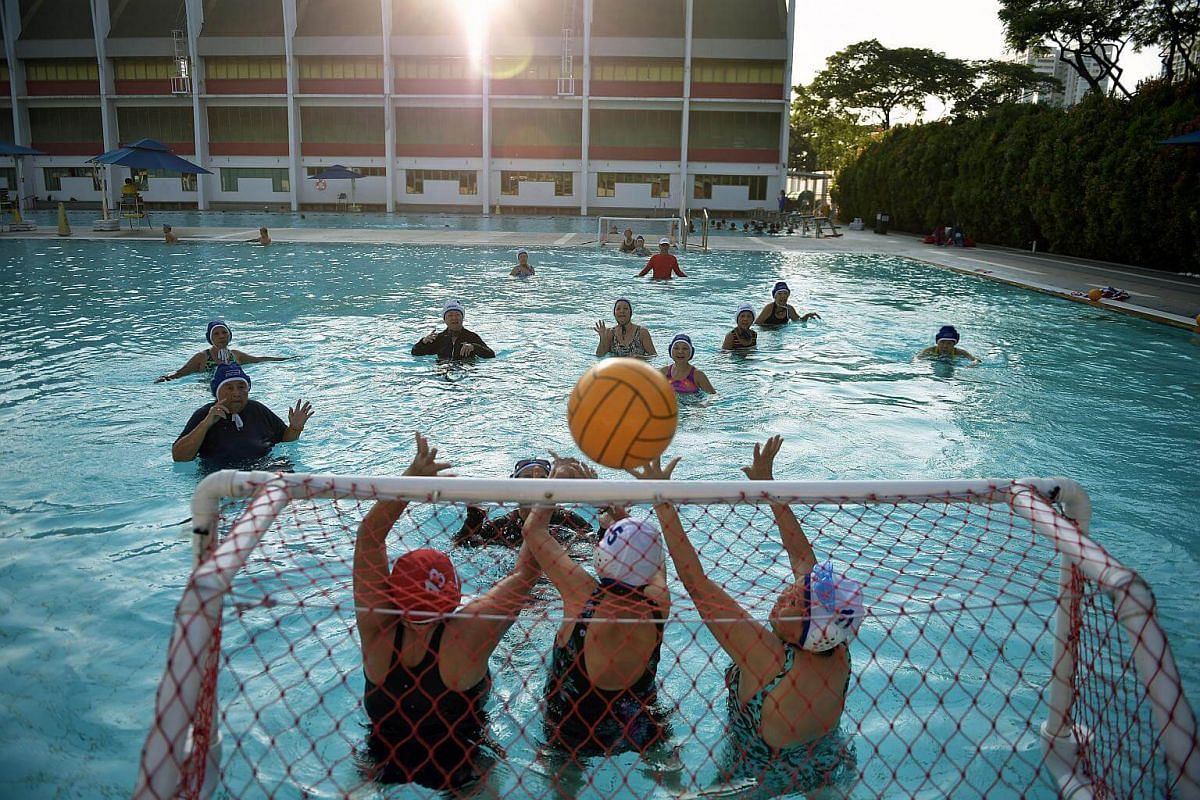 """""""We like coming to Toa Payoh Swimming Complex because they open very early, at 6.30am and the wall next to the pool helps to block the morning sun until the rays creep in at about 8am,"""" said Madam Teo Ah Ping."""