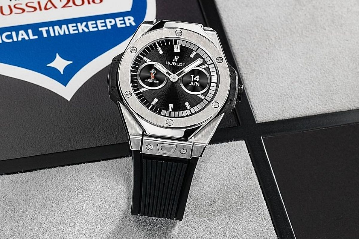There are only 2,018 pieces of Hublot's limited-edition Big Bang Referee watch (left).