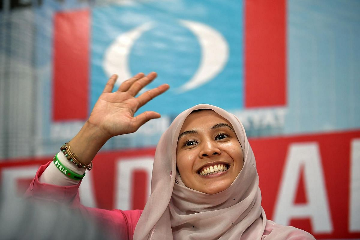 PKR candidate Nurul Izzah Anwar speaking to the media at Yayasan Aman in Permatang Pauh on mainland Penang, on May 1, 2018.